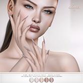 alme. Mesh Stiletto Nails - Nudes Glossy (wear to unpack)