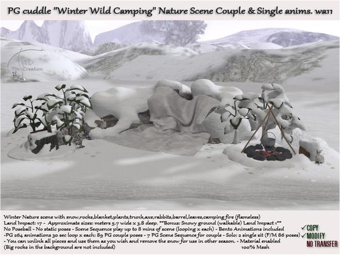 Wild Camping with Snow 264 PG anims. Seasonal Scene wa11