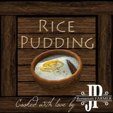 25x Rice pudding [G&S]
