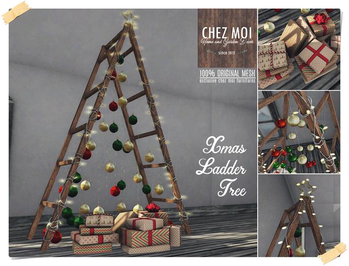 Xmas Ladder Tree ♥ CHEZ MOI