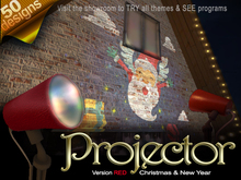 The House Projector VERSION RED: Christmas & New Year