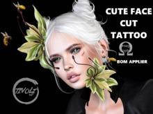 Face cute Undereye Tattoo Omega / Bom Applier Unisex -