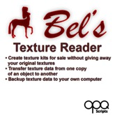 Create sellable texture kits and retexture multiple copies of an item with Bel's Texture Reader!