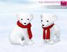 Full Perm Mesh Xmas Polar Baby Bear