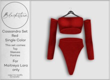Blackstone - Cassandra Knit Set - Red