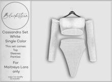 Blackstone - Cassandra Knit Set - White