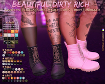 *B.D.R.* The Nocturnal -Combat Boots-