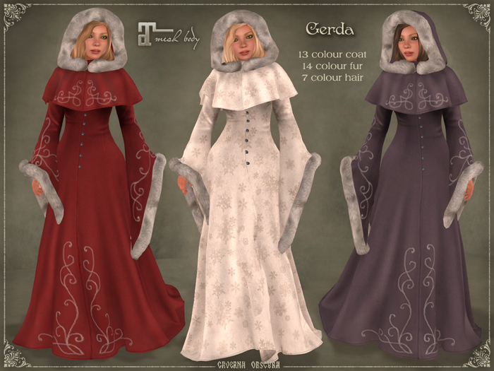 DEMO Gerda Winter Coat by Caverna Obscura - Maitreya only!
