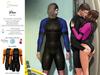 S&P Drax wet suit - orange (wear to unpack)
