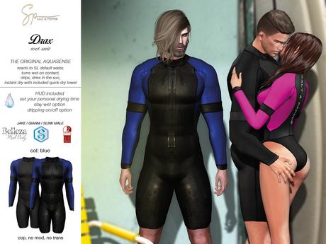 S&P Drax wet suit - blue (wear to unpack)