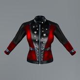 Red American Eagle Slink Biker Jacket
