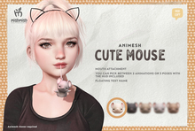 MishMish - Cute Mouse Attachment / Cream [Boxed]
