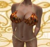 Turkey Time Thanksgiving Beaded Bikini - Maitreya