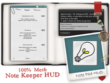 -W-[ Note Keeper Hud ] Notepad organization tool (mod/copy)