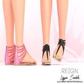 REIGN.- LAGUNA SANDALS- FATPACK- Maitreya,Slink,Belleza,Mesh Feet