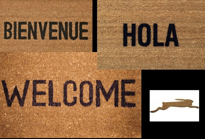 4 BOUNCE Welcome Mats and 4 regular Versions