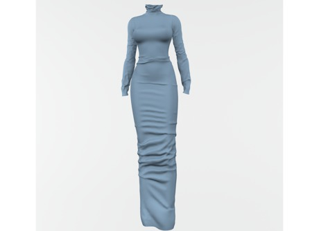 RAPTURE-Dress Mileena-Light Blue