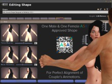 ASA Male & Female Shapes for Animation Adjustments & Alignment