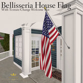 Bellisseria House Flag ~ Texture Change Welcome Mat Set - USA (Boxed)