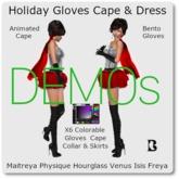 Blackburns Holiday Gloves Cape & Skirt DEMO