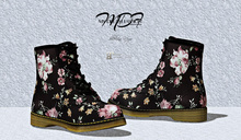 MDF  Martin Boots  - Black Floral * NEW