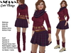 [CT] Winter Warm Christmas Outfit Purple - Ice Skates animated - 5 sizes - Maitreya - Slink - Belleza
