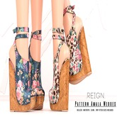 REIGN.- PATTERN AMALA WEDGES- FATPACK