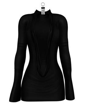 Natasha Crowl Mini Dress — Onyx
