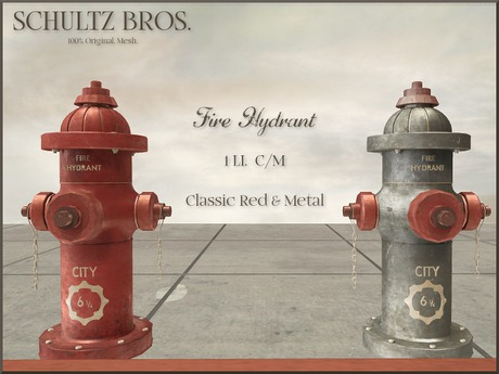 [Schultz Bros.] Fire Hydrants (Boxed)