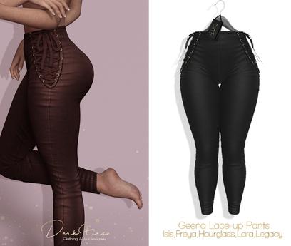 DarkFire Geena Lace-Up Pants-#03