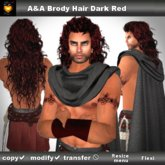 A&A Brody Hair Dark Red (long men's hairstyle!)