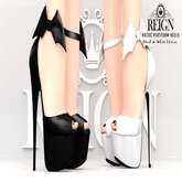 REIGN.- HOCUS PLATFORM HEELS - Black&White Pack