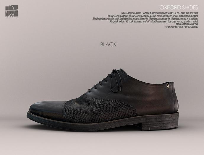[Deadwool] Oxford shoes - black