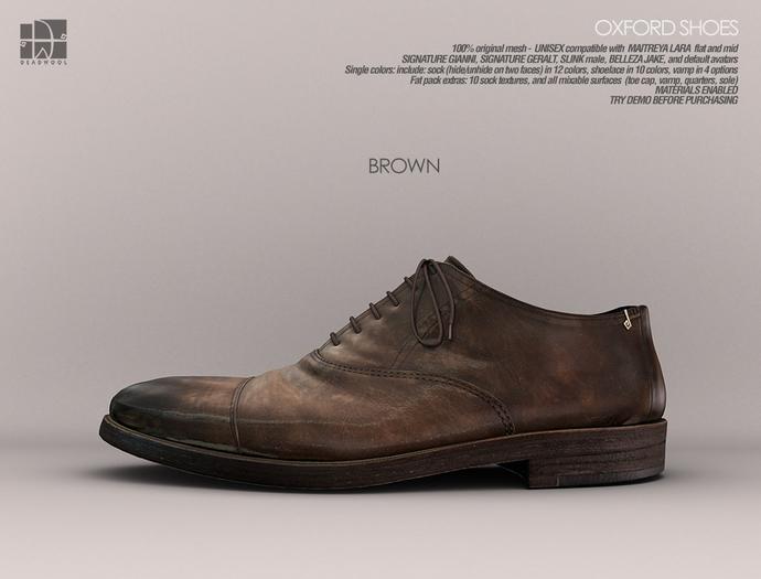 [Deadwool] Oxford shoes - brown