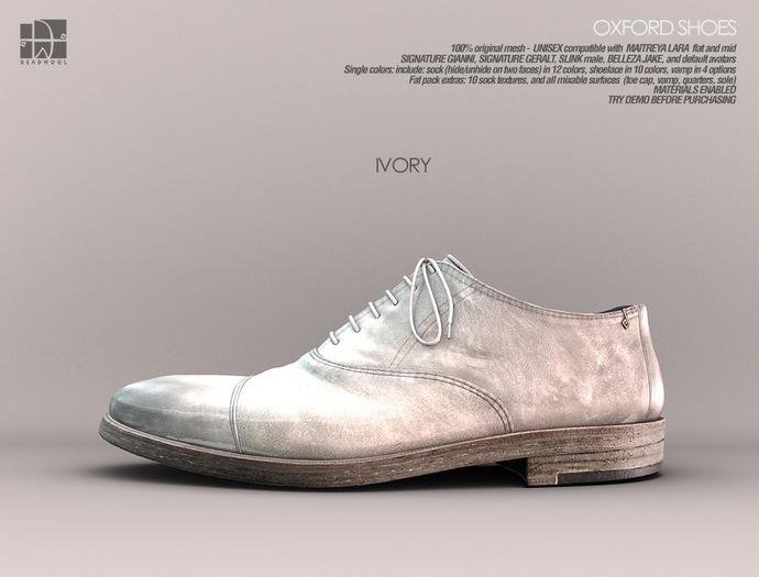 [Deadwool] Oxford shoes - ivory