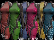 FUTURETRO 2020 SciFi Star Fleet Stylized Power Suit - Trek Cosplay Space Crew Dress Jacket Skirt Six Colors in FATPACK