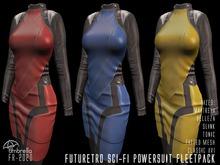 FUTURETRO 2020 SciFi Star Fleet Stylized Power Suit - Trek Cosplay Space Crew Dress Jacket Skirt - 3-COLORS FLEETPACK
