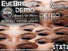:unBra DEMO: Eyebrow Sets (BOM) BakesOnMesh
