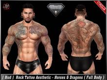 [HUD] Tattoo Applier Aesthetic - Horses & Dragons ( Full Body )
