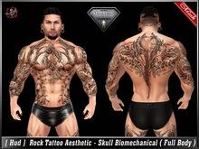 [ Hud ] Rock Tattoo Aesthetic - Skull Biomechanical (Full Body)