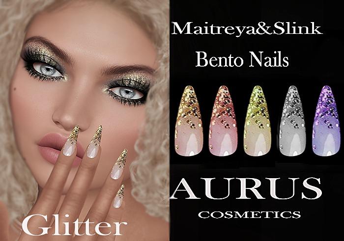 A U R U S - Glitter Bento Nails -Maitreya & Slink