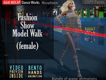 A&M: Fashion Model Walk FEMALE (Bento hands) :: #TAGS - defile, podium, pret a porter, elegance, style, show