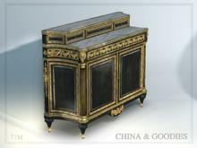 "Martin Carlin ebonized commode ""Bellevue"" - C&G-"