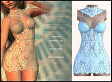 [ CONSENT ] Niki Lace Dress *Blue* ( add me )