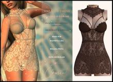 [ CONSENT ] Niki Lace Dress *Brown* ( add me )