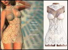 [ CONSENT ] Niki Lace Dress *Cream* ( add me )