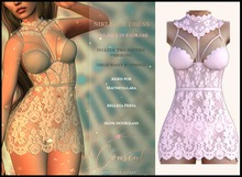 [ CONSENT ] Niki Lace Dress *Pink* ( add me )