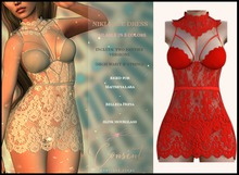 [ CONSENT ] Niki Lace Dress *Red* ( add me )