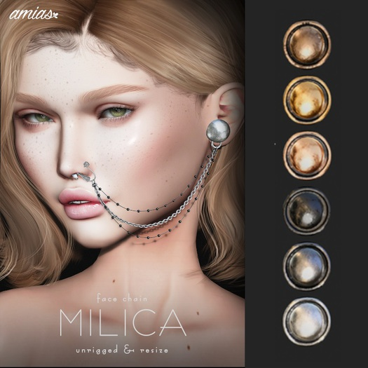 amias - MILICA face chain pack