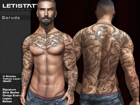 Letis Tattoo :: Garuda :: Tattoos Bakes On Mesh & Legacy Signature and more Appliers